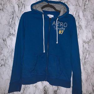 Blue Aeropostale Zip up Sweatshirt